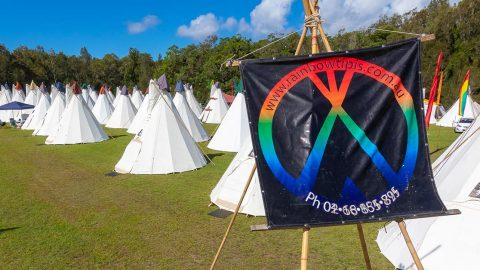 The Tipi experience at Bluesfest — one of a kind. We chat with Ray Brown, the owner of Rainbow Tipi!